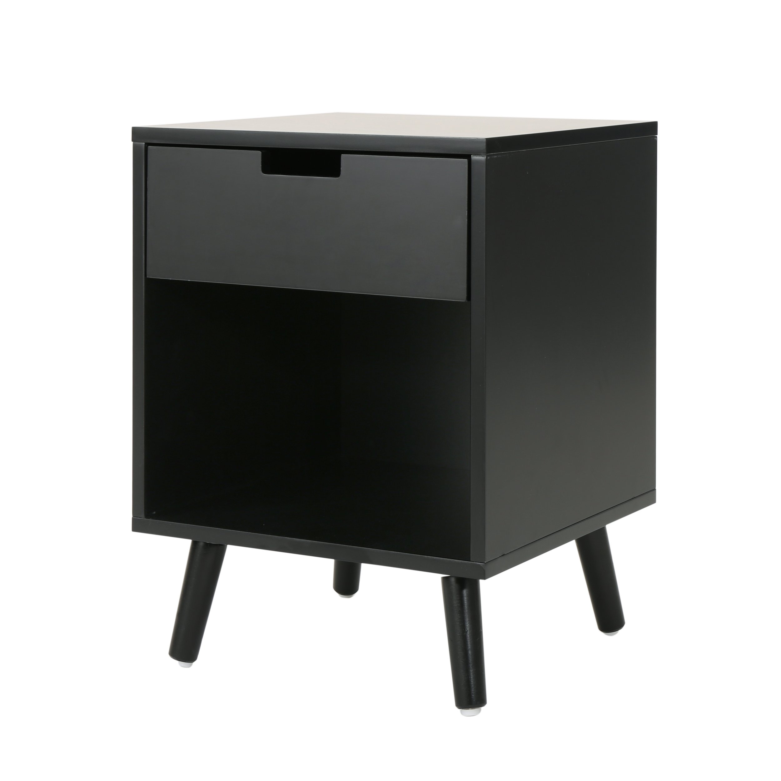 Christopher Knight Home Tammy Modern Wood Accent Side Table | in Black by Christopher Knight Home