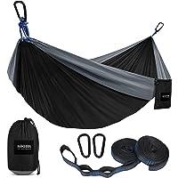 Kootek Camping Hammock Portable Indoor Outdoor Tree Hammock with 2 Hanging Straps, Lightweight Nylon Parachute Hammocks…