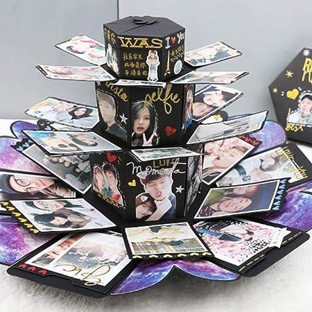 rosemaryrose Caja Regalo Caja Sorpresa Regalo Explosion Box Explosion Bouncing Box Multifuncional DIY Photo Album Innovador Sorprendido - Regalo De Cumpleaños del Presente De San Valentín: Amazon.es: Hogar