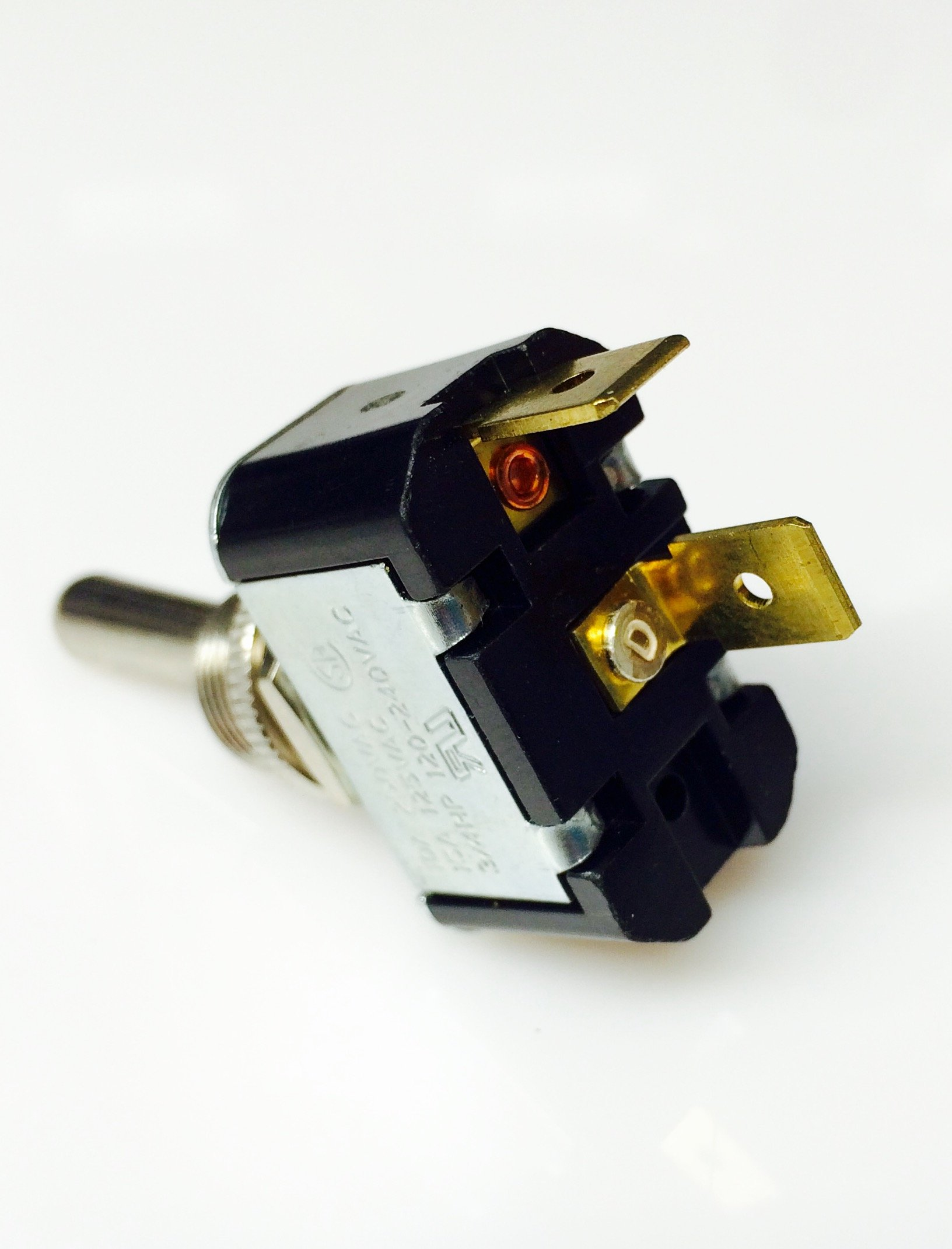 Toggle Switch Body (ON)/OFF, SPST, Momentary