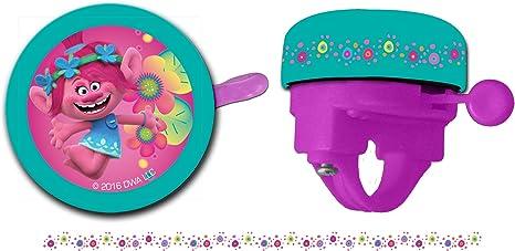 TROLLS niña – Timbre para Bicicleta, Color Rosa, One Size: Amazon.es: Deportes y aire libre