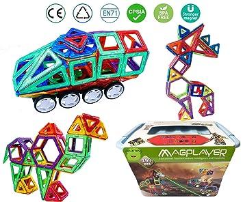 Magplayer Magnetisches Konstruktionsspielzeug 198 Teile Bau- & Konstruktionsspielzeug-Sets
