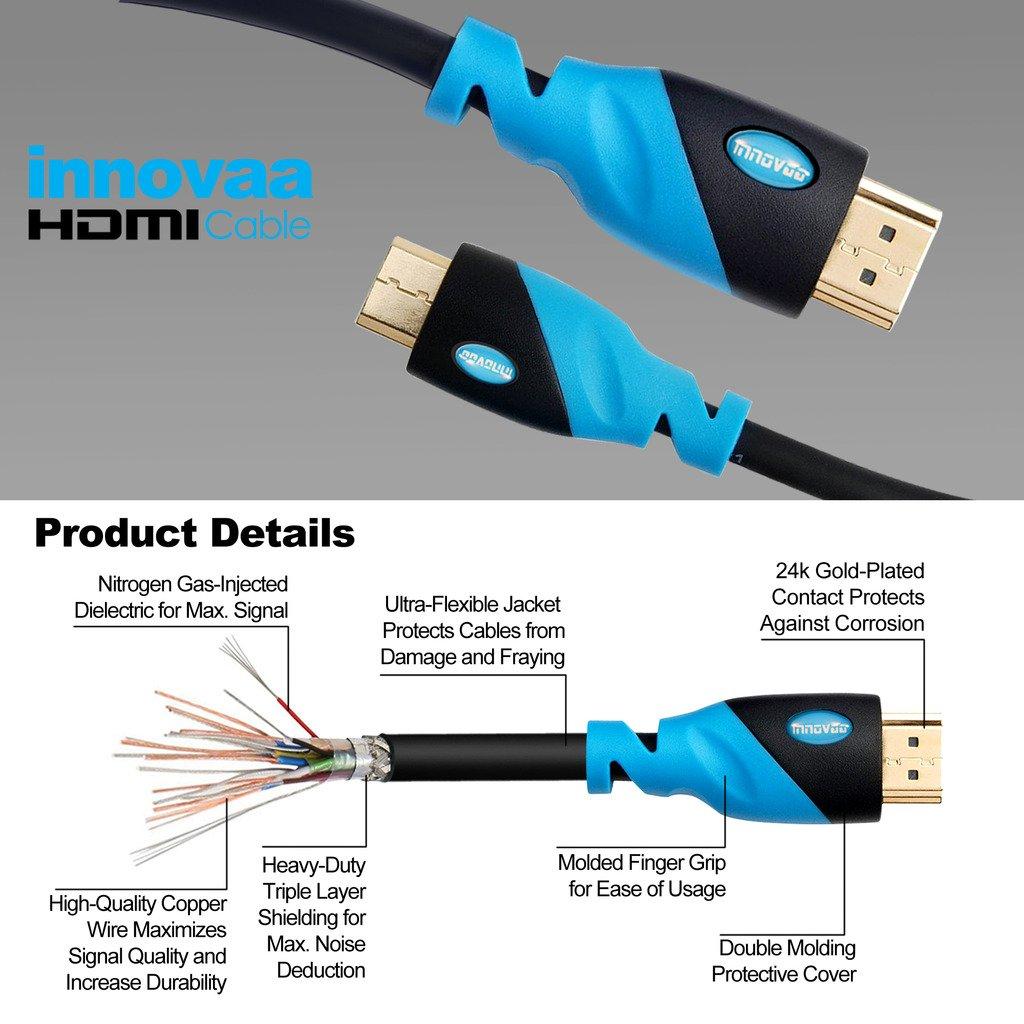 Amazon.com: Mini HDMI Cable, INNOVAA Ultra High-Speed Mini HDMI to ...
