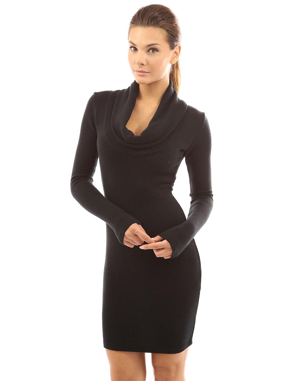 PattyBoutik Women&39s Cowl Neck Long Sleeve Knit Dress at Amazon ...