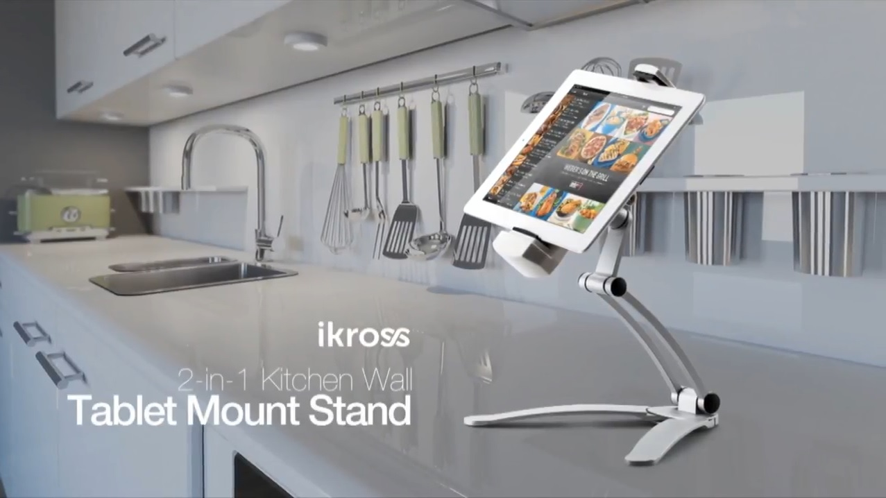 Kitchen Tablet Mount Stand Ikross 2 In 1 Kitchen Wall