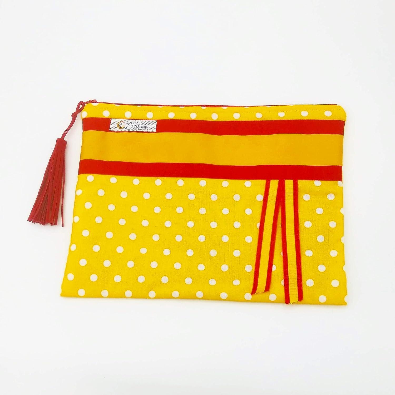 Bolso de mano amarillo con bandera de España: Amazon.es: Ropa y accesorios