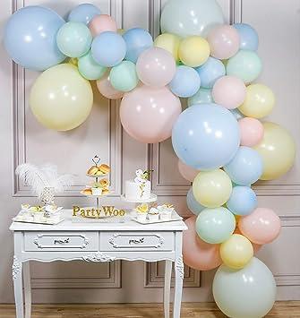 Amazon.com: PartyWoo - Globos de color pastel, color rosa ...