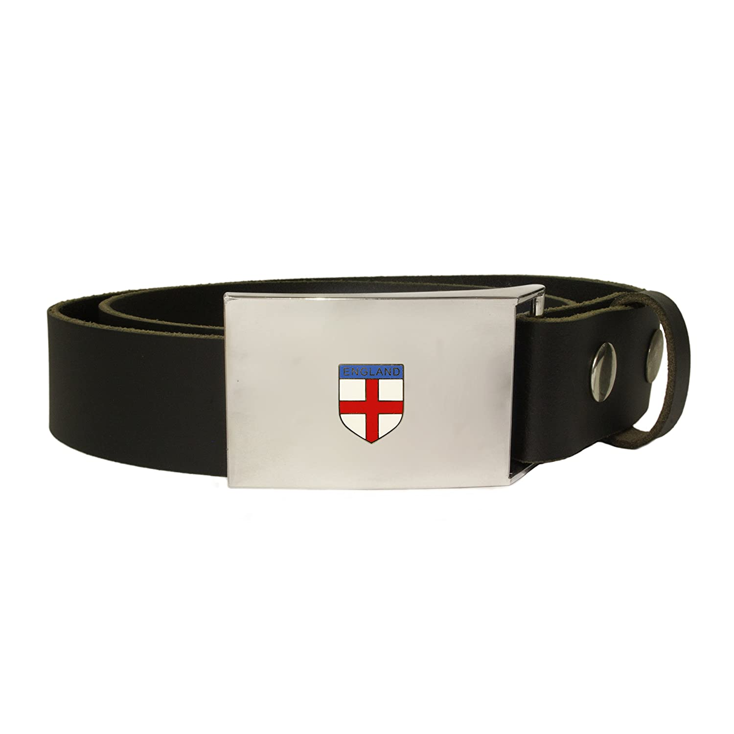 England St George's cross leather snap fit belt