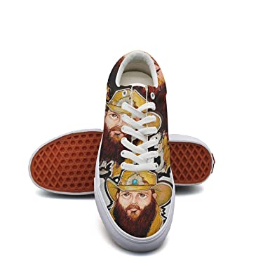 33a0b461a50 Amazon.com  Chris stapleton Sneaker Loafers for Women Canvas Upper Skate  Shoes Slip-on Cut Low Top Lace up Flat Casual  Clothing