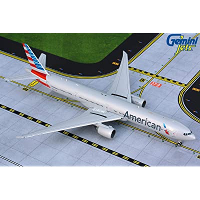 GeminiJets GJAAL1865 1:400 American Airlines Boeing 777-300ER Airplane Model: Toys & Games