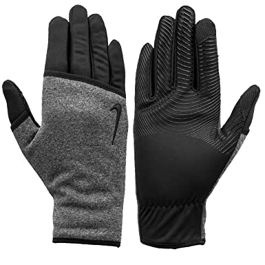 51aa5252ad861 Amazon.com  Nike Women`s Sphere Running Gloves (Cool Grey(NWGH2039) Black