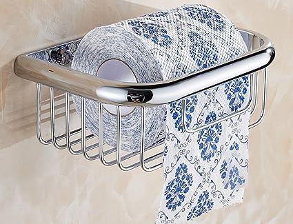cesta de toalla de papel titular de rollo de papel higiénico cesta de toallas de baño