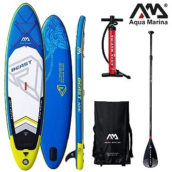 Aqua Marina Beast 2019 Sup Board - Tabla de Surf (Hinchable), Board+SportIII Paddle: Amazon.es: Deportes y aire libre