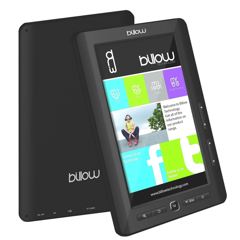 Billow, E2TB - Lector de Libros electrónicos, de 7Pulgadas, 4GB, Color Negro (Idioma español no garantizado).