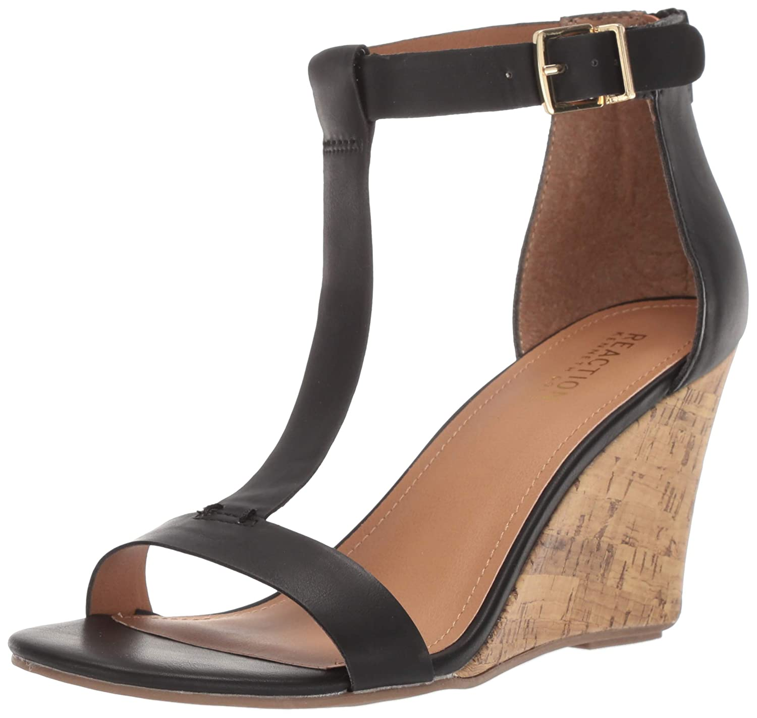 5973d69ca Amazon.com | Kenneth Cole REACTION Women's Ava Great T-Strap Wedge Sandal |  Platforms & Wedges