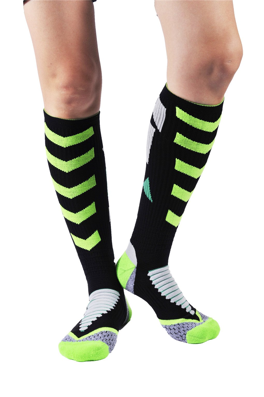Leoparts Crew Length Basketball Socks Athletic Crew Socks Over the Calf Socks by Leoparts