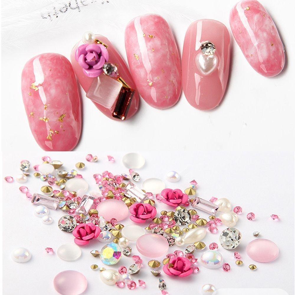 Miswilsi Beauty Jewelry Glitter Mix Gems Alloy Rose Nail Art