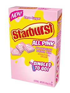 Starburst Strawberry Singles To Go Drink Mix, 0.43 OZ, 6 CT (Pack - 3)