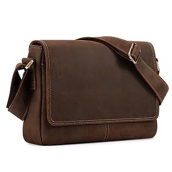 Kattee Crazy Horse Leather Briefcase Business Messenger Bag 2ea89381550b9