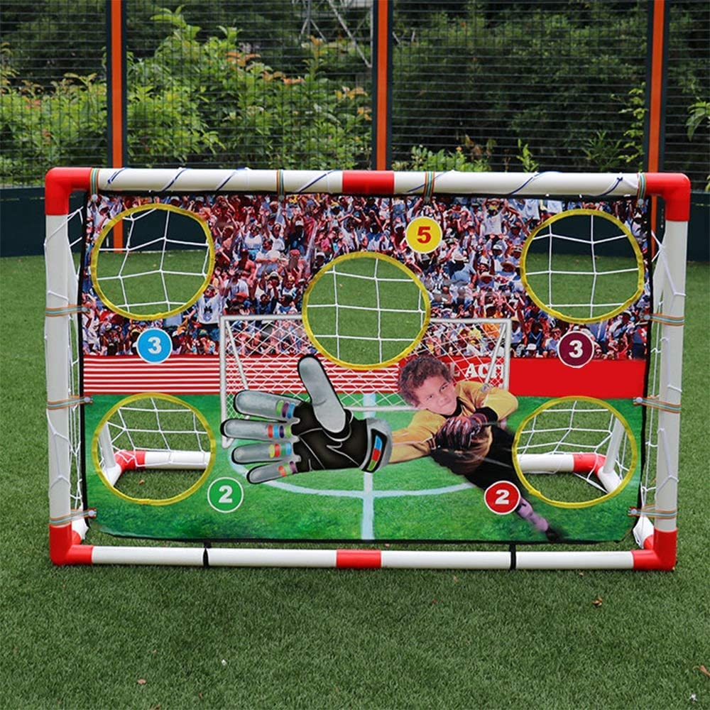 BTTNW TO Cage DE Foot Portable Sports de Plein air for Enfants Sports Jouets Football Football Porte Portable Assembl/é Porte Baffle Football Porte Childrens Soccer Goal Portable