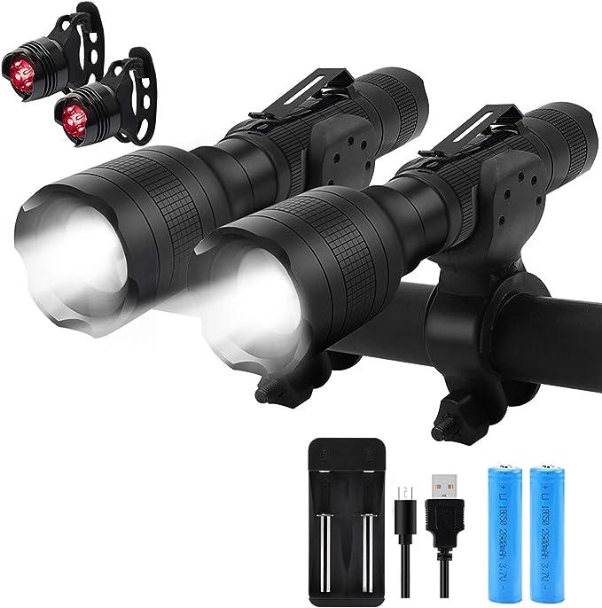 Luz de Bicicleta multifunci/ón 4 en 1 4000mAh L/úmenes Linterna de Bicicleta Bocina de Bicicleta Soporte para tel/éfono Banco de energ/ía Luz Delantera de Bicicleta N A luz Bicicleta Recargables USB