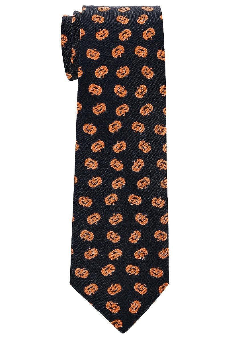 Retreez Joyful Fun Happy Halloween Pattern Woven Boy's Tie - 8-10 years Halloween Gift RTZ-KDHLWTIE17-7CM-0009-BLK
