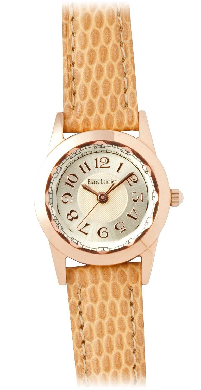 [ピエールラニエ]PIERRE LANNIER 腕時計 ルミエールウォッチ ピンクゴールド/リザード型押し ベージュ P867900 L42 レディース 【正規輸入品】 B00HHOGEY8
