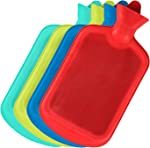 SteadMax Hot Water Bottle, Natural Rubber -BPA Free- Durable Hot Water