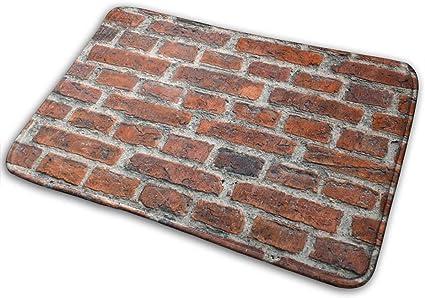 Image ofBLSYP Alfombra Antideslizante para Puerta de Bienvenida Franela Textura de Pared de ladrillo Vieja y Moderna Alfombra de baño de Piso Suave Alfombra Interior/Exterior, 15.7 'x23.5', Rectángulo