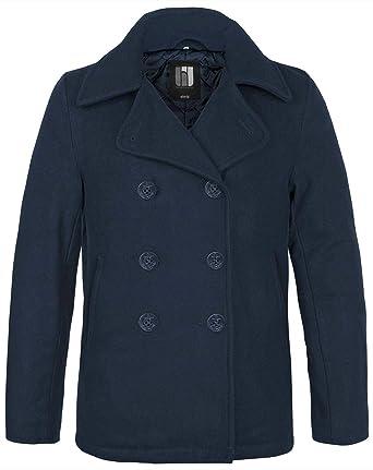 BW ONLINE SHOP Marina Pea Coat Marino Abrigo de Invierno Chaqueta