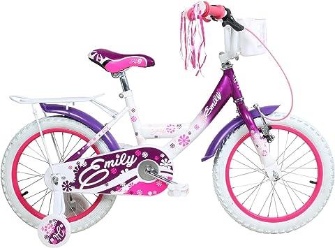 Hi5 Emily 16 pulgadas – Bicicleta con ruedines para niñas a partir ...