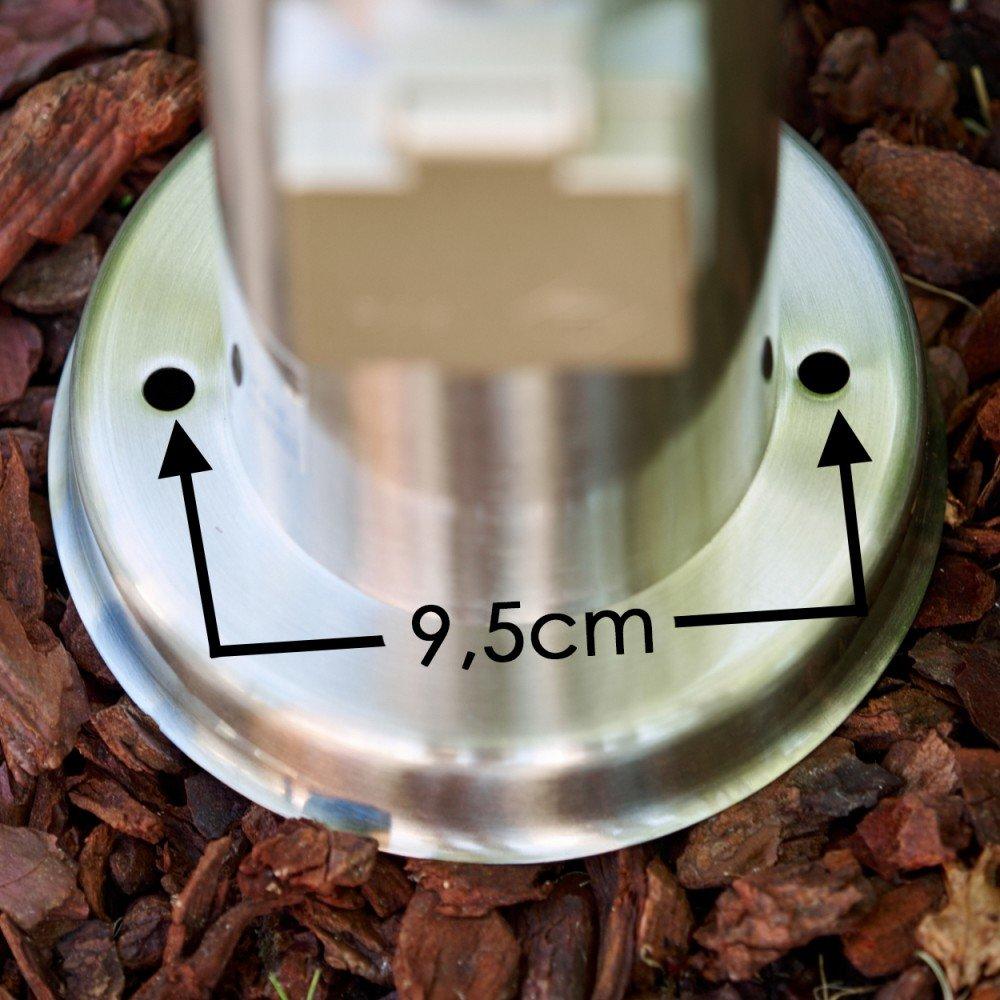 lampada da terra di acciaio inox con Spina