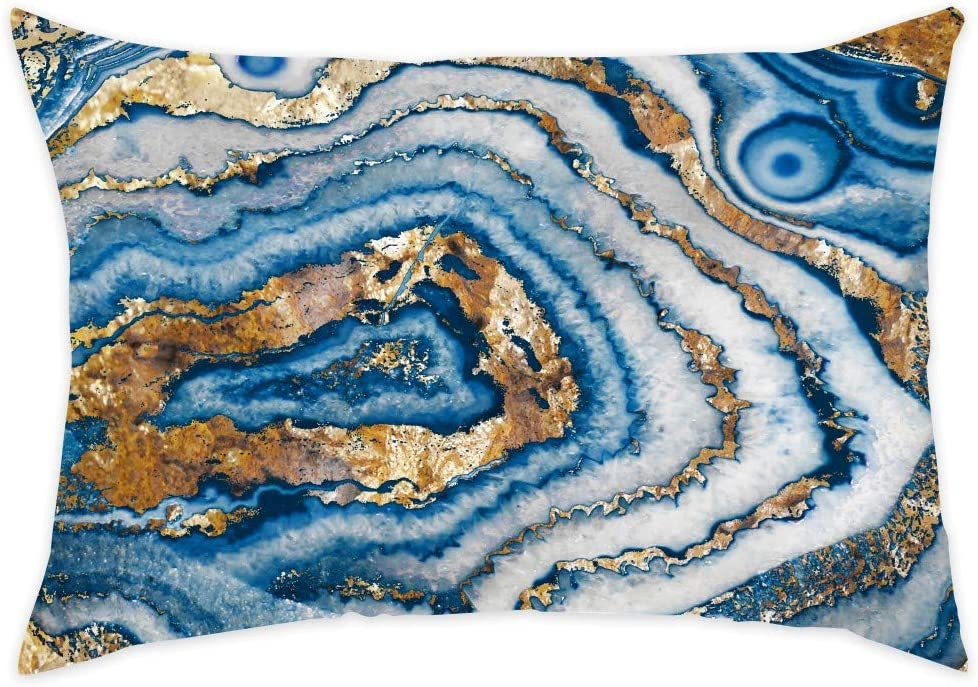 Amazon Com Abstract Decorative Throw Pillow Bleu Agate Home Kitchen