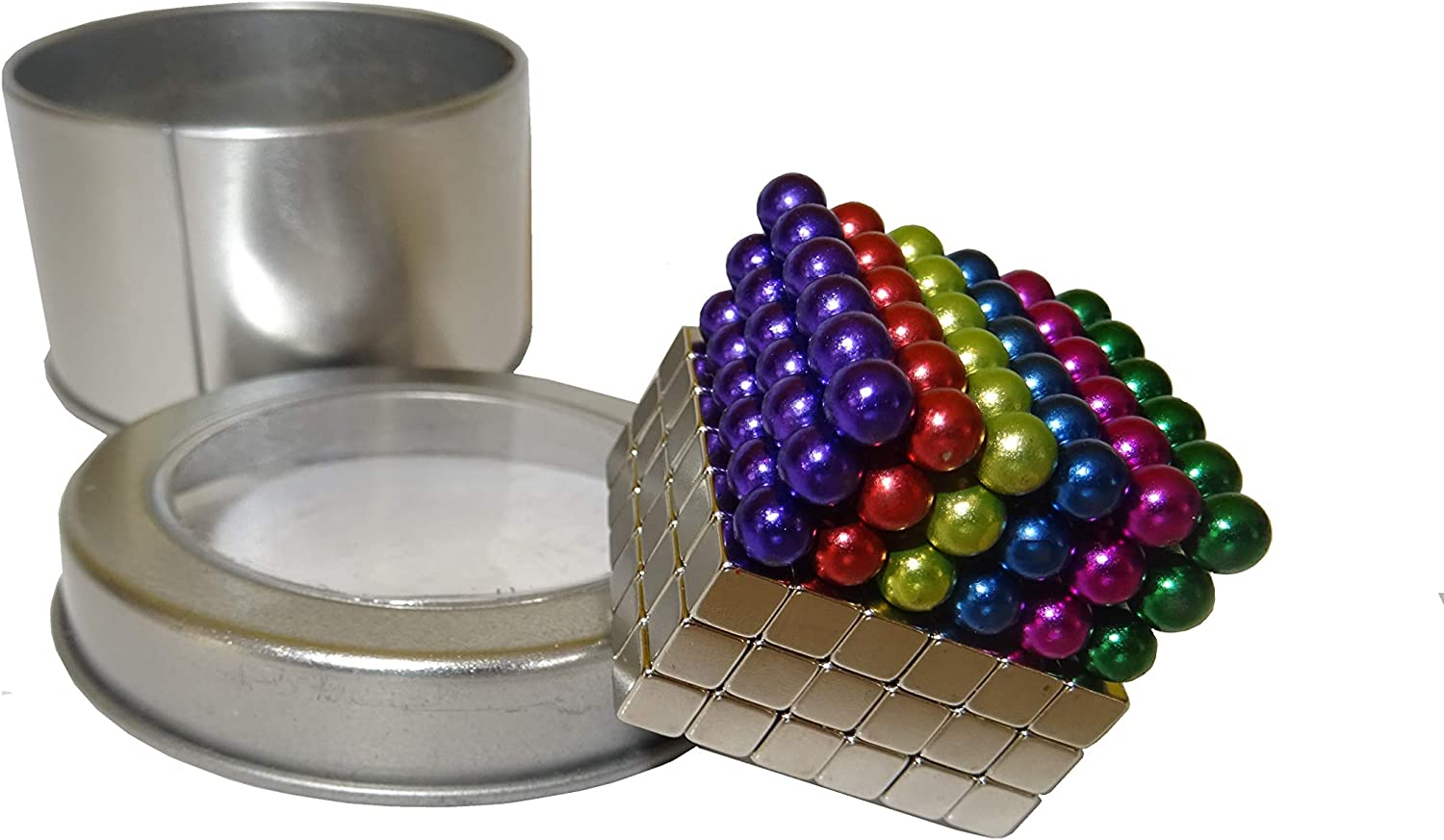 The crazy construction magnets for your office desk. 216 x 5mm Magnetic Balls and Cubes KidsBDragons offers Maji Puk Fast UK delivery
