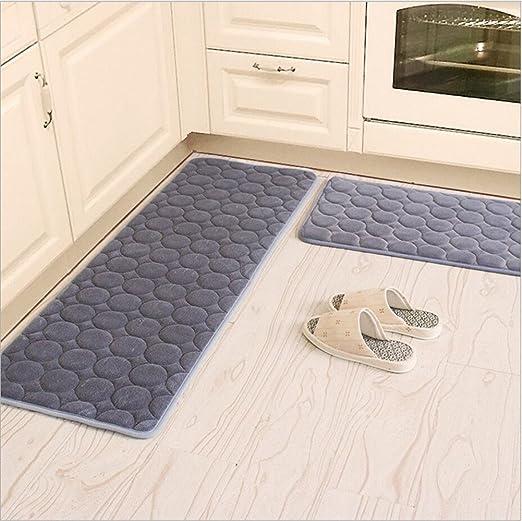 Kitchen Rugs,CAMAL 2 Pieces Non-Slip Memory Foam Kitchen Mat Rubber Backing  Doormat Runner Rug Set (16\