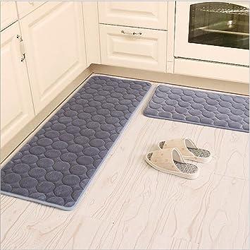 Amazon Com Kitchen Rugs Camal 2 Pieces Non Slip Memory Foam Kitchen