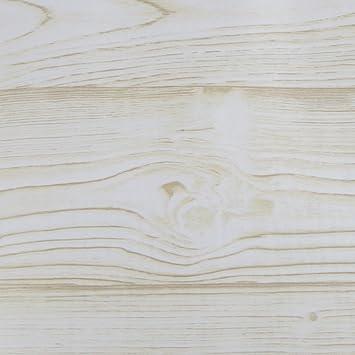 Klebefolie 200x45cm Eiche Weiss Holzoptik Dekofolie Selbstklebefolie