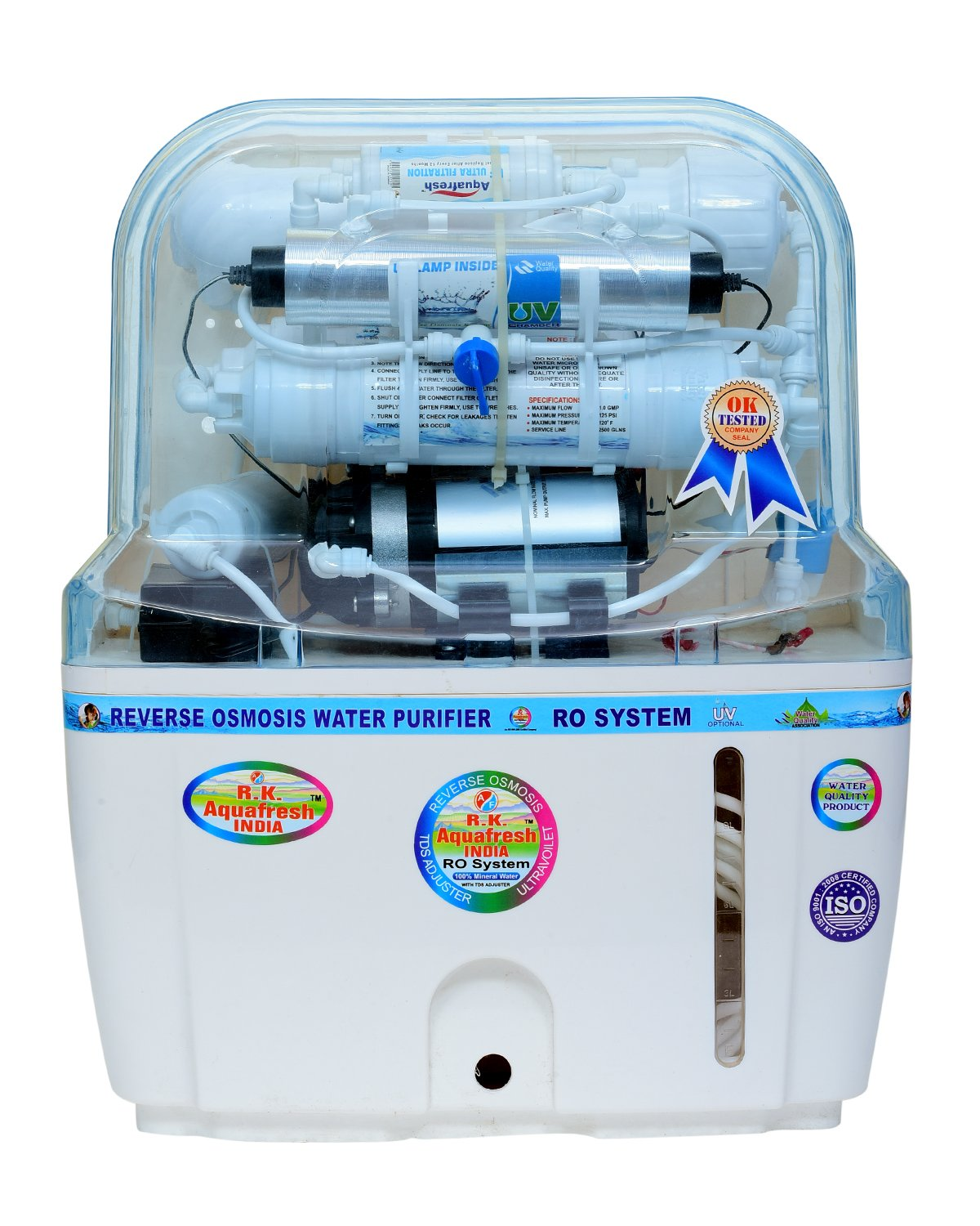 R.K. Aqua Fresh India 15-Liters RO+UV+UF+TDS Adjuster Water