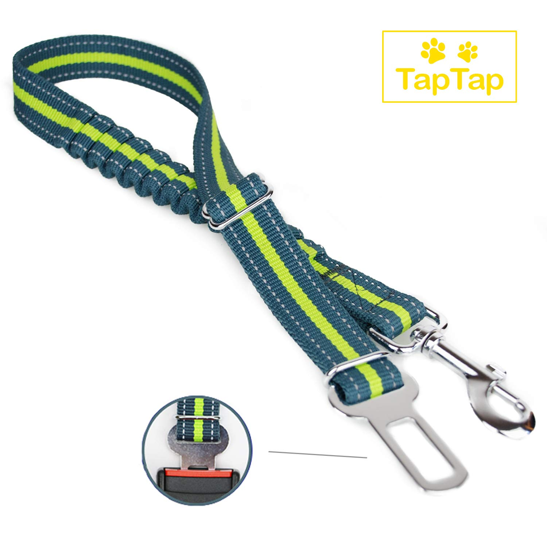 TapTap Premium Hundegurt fürs Auto in auffälliger Farbe und reflektierend - Sicherheitsgurt Für alle Hunderassen - Anschnallgurt Hund Auto mit elastischer Rückdämpfung