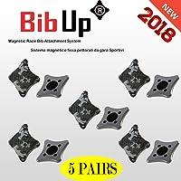 BIBUP 2019-5 Coppie Sistema Magnetico Fissaggio Pettorali da Gara