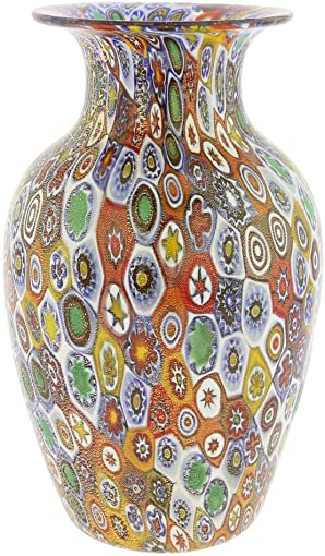 Barski – Hand Cut – Mouth Blown – Centerpiece – Large Footed Vase – 16 H – Made in Europe