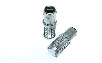 Dinax(TM 2 X Bombillas LED BAY15D 1157 P21/5W CANBUS 33 Leds SMD 5730 Rojo 400 LUMENES Muy Brillante POSICION Freno Coches Motos 12-24V: Amazon.es: Coche y ...