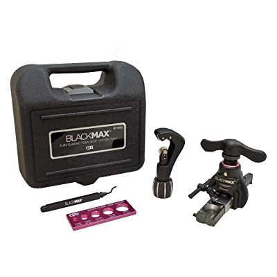 CPS BlackMAX BFT850K Lightweight R-410A Clutch-Type Ecentric Flaring Tool Kit with Flare Size Gauge, Cutter and Deburring Tool: Industrial & Scientific