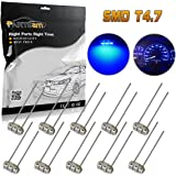 Partsam 10PCS Blue T4.7 Instrument Panel LED Light Gauge Cluster Bulbs Dashboard Indicator Lamp Repair Kit Compatible with 2003 2004 2005 2006 Chevy GMC