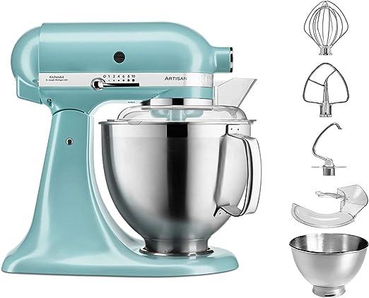 KitchenAid 5 ksm185pseaz 4,8L Robot de cocina, azur, Azul: Amazon.es: Hogar