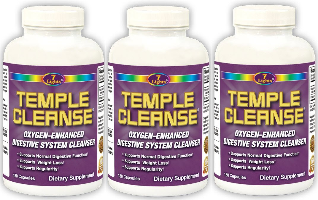 Temple Cleanse Colon Cleanse Detox 180 s 3-Pack Special