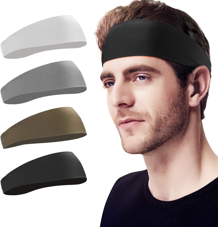 Men Women Sports Headband Gym Tennis Basketball Sweatband Hairband Blue