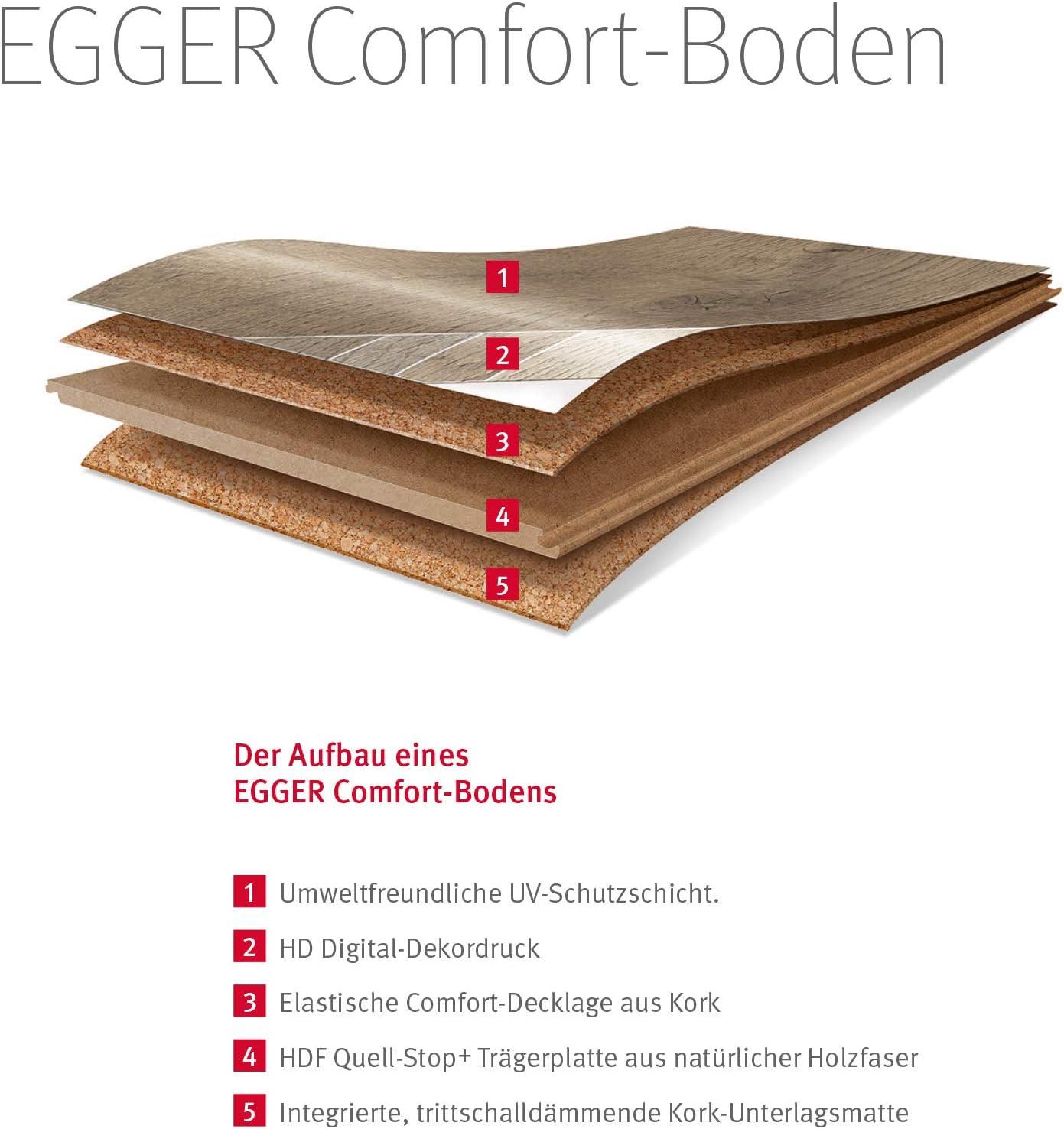Egger EHC014 Korkboden Kork Designboden Laminat braun