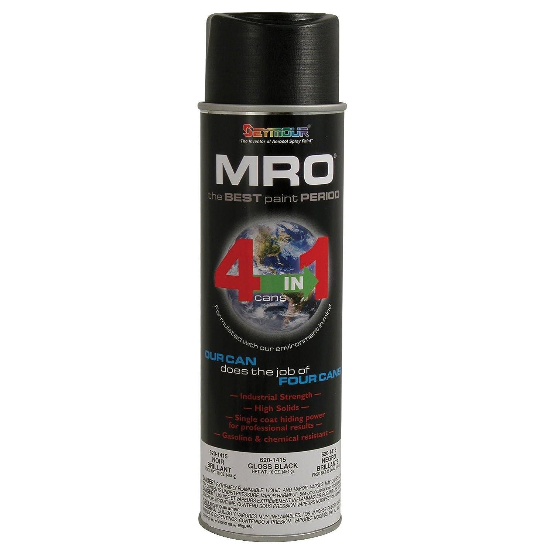 Seymour Spray Paint, Gloss Black MRO Industrial Enamel Paint, 20 Fluid oz. Can (6) Seymour of Sycamore P-620-1415GB