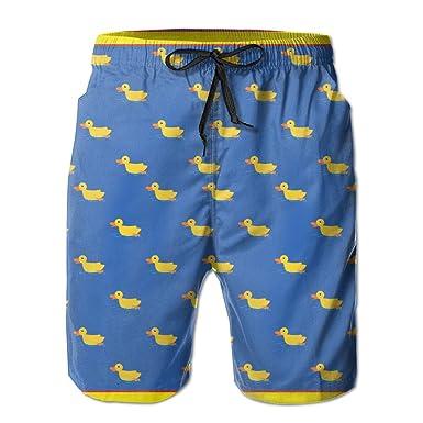5d63227a3b Surferio Mens Quick Dry Cute Duck Funny Small Duck Beach Shorts Swim Trunks  Board Shorts M